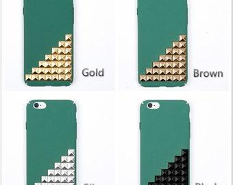 studded iPhone 7 case iPhone 7 plus case iPhone 6 plus case  iPhone 6/6s case iPhone SE case green case
