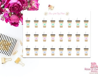 Coffee-to-go Planner Stickers