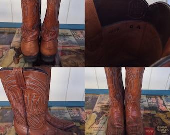 70's Cognac dan post boots