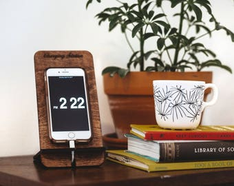 Phone Stand - Charging Station - Phone Stand Wood - Cell Phone Stand - Docking Station - Phone Holder - Wood Phone Stand - Cell Phone Holder