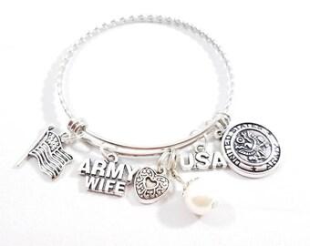 Army Wife Bangle Bracelet