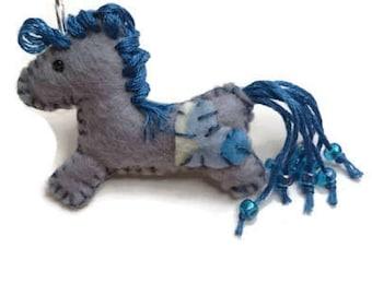 Blue unicorn pin