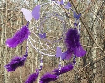 Purple Butterfly Dreamcatcher
