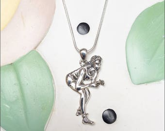 In Her Stance Sterling Silver Charm Necklace