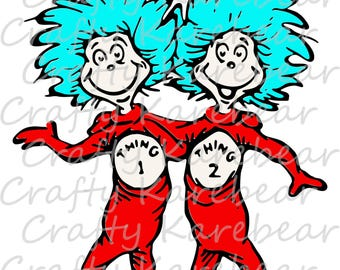 Thing 1 Thing 2 SVG and DXF Digital File