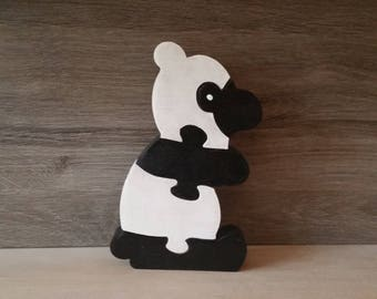 wooden toy puzzle panda
