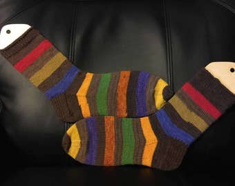 Mens hand knitted long socks made to order