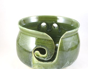 Jade Green Yarn Bowl