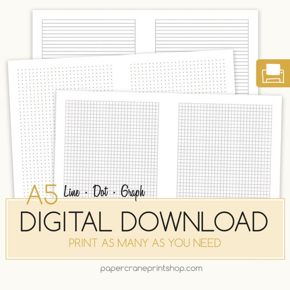 A5 Dotted Paper Dot Grid Dot Grid Paper Bullet Journal Dot