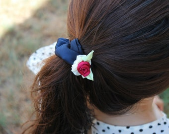 Chic Rose scrunchy-girls-women-hair accessory-elastics-band-colour