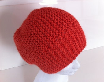 Very soft coral hat in Alpaca