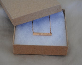 Personally Engraved Rose Gold Necklace