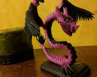 Custom 3D Origami Wyvern Dragon statue