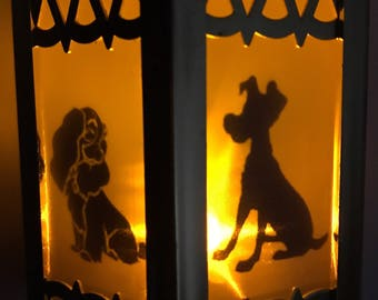 Lady and the Tramp Inspired - Battery-Operated Plastic Mini Lanterns
