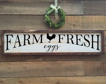 Farm fresh eggs, Farmer's Market Sign, vintage Home Decor