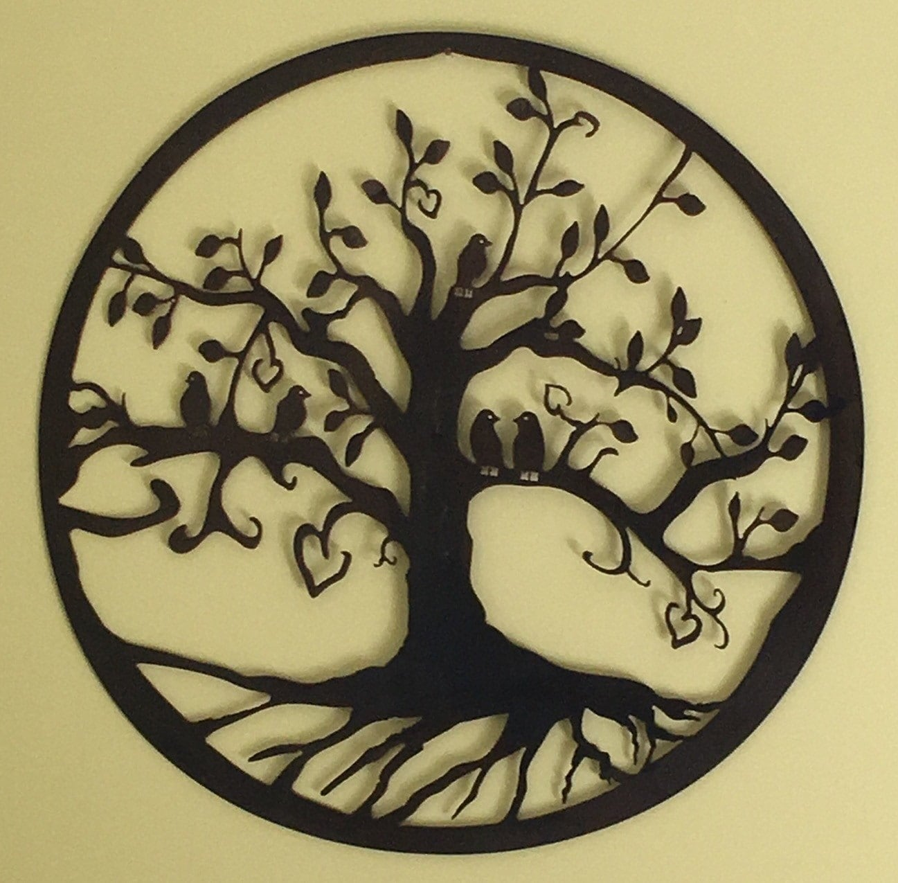 Birds in a love tree metal wall art [E1023101840990021M] - $43.99 ...