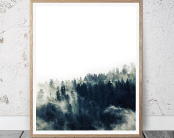 Forest Print, Forest Photography, Modern, Printable Art, Nature Prints, Forest Wall Art, Forest Art, Wilderness Poster, Woodland Prints