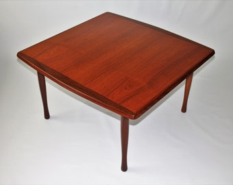Restored 1950s teak and walnut coffee table