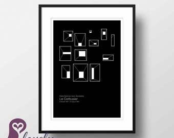 Le Corbusier Poster | France | Architecture | Famous Buildings | Wall Art | Wall Decor | Home Decor | Prints | Poster | Digital Paper