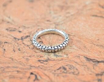 Michael Dawkins Pebble Band Ring Size 7 Sterling Silver 3.6g Vintage Estate