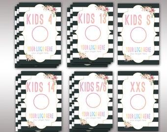 LulaRoe Boho Clothing Size Divider, Instant Download, 4x6, LLR Collection Size, Clothing Size, Marketing, For Fashion Retailer K15503