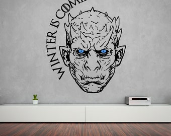 Night King Wall Sticker Game Of Thrones Vinyl Decal White Walker Winter Is Coming Stencil Gift
