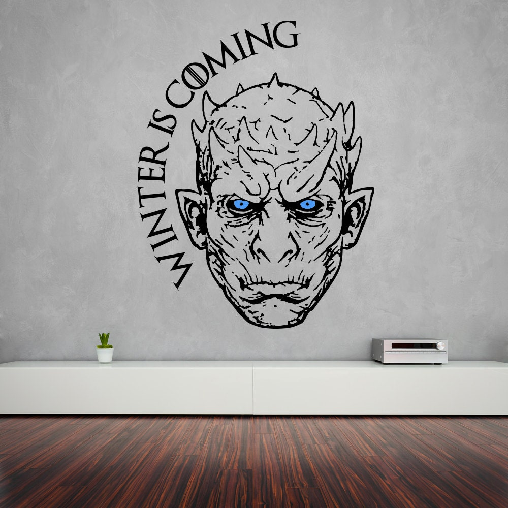 Night king wall sticker game of thrones vinyl decal white zoom amipublicfo Choice Image