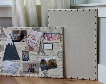 """NEW SIZE 17"""" x 23"""" Linen Pin Board"""
