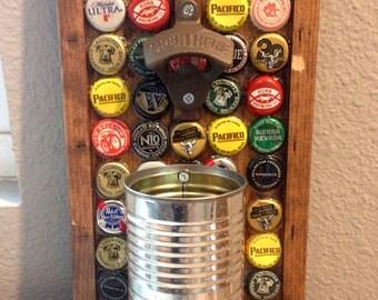 Wall Mount Bottle Opener, Can Cap Catcher, Bottle Caps Design