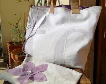 spring purple bag
