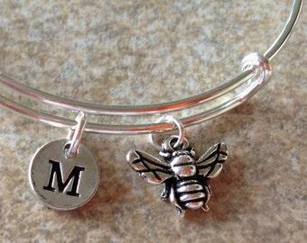 Cute Little Bee bangle, Bee Bracelet, Bee bracelet, Insect Bracelet personalized bracelet, initial bracelet