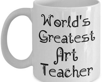 Art Teacher Mug Gifts - Teacher Appreciation Gift Men Women - Gifts for Retired Middle High School Teachers - End of Year Gift, Christma