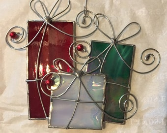 Stained Glass Christmas Presents