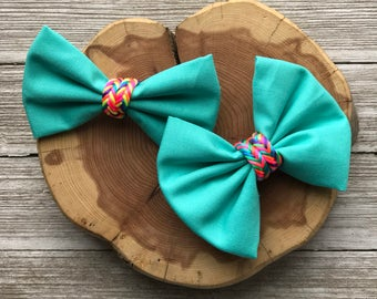 Blue neon bow,bow tie, toddler bow