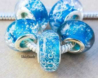 European glass beads, lampwork beads, murano glass beads, lampwork beads, murano beads, European style beads, large glass bead, large hole