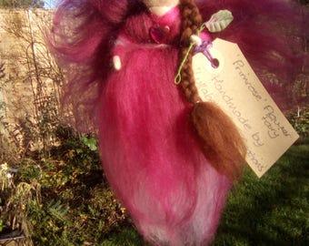 Merino Wool Flower Fairy 'Primrose' Mobile