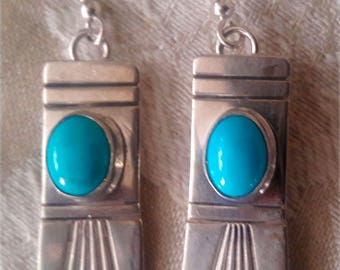 Sterling Silver Southwest Turquoise earrings