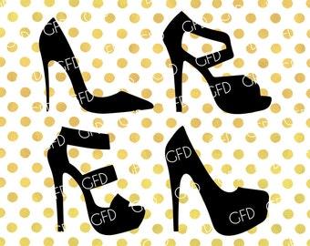 High Heels SVG, Stiletto SVG, Stiletto Shoes SVG, High Heels Clipart, Stiletto Digital Cut File, Instant Download, Svg, Dxf, Jpg, Eps, Png