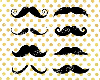 Mustaches Silhouette SVG, Mustaches SVG, Barber SVG, Mustaches Clipart, Mustaches Cut File, Instant Download, Svg, Dxf, Jpg, Eps, Png