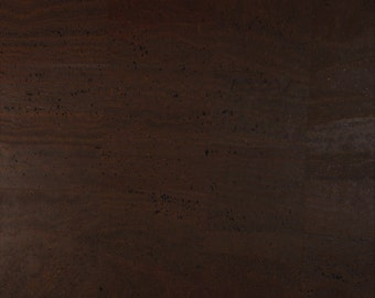 Cork Fabric (US Supplier) - Brown - Cork Leather - Vegan -EcoFriendly - Leather Alternative - You Choose Your Cut - Made in Portugal