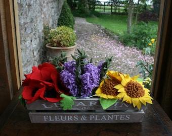 Felt Flower Planter
