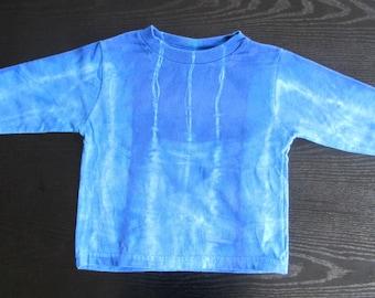 Shibori Tie Dyed Sapphire Blue Shirts