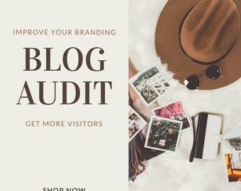 Virtual Assistant, 3 page Blog Audit, Blog SEO, Blog branding audit, content audit, blog review, influencer blog review, branding seo, blog