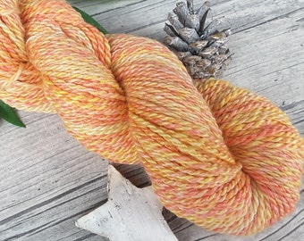 "Yarn handspun hand dyed - bluefaced leicester, bamboo - ""Marigold"" - 150yds/3,77oz - 2ply"