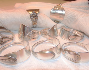 Antique cutlery napkin rings