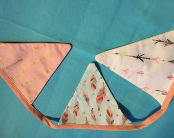 Apricot colour themed bunting