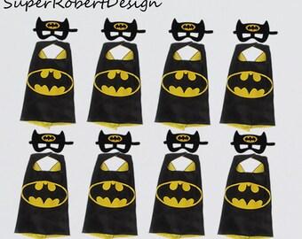 Party Pack 10 Kids batman cape, batman capes and masks, Batman Centerpiece, Superhero party, Batman Party, Batman Birthday Party