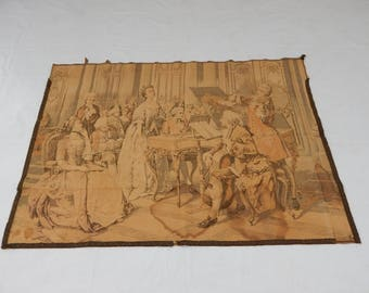 Vintag French Singing  Tapestry (286)