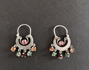 Guatemalan Sterling Silver Moon Earrings