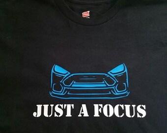 "Mens Black Shirt ""Just A Focus"" RS Design + ""RS"" Logo on the back"
